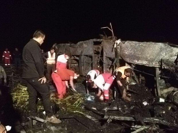 جان باختگان حادثه اتوبوس مسافربری تهران-کرمان معین هویت شدند