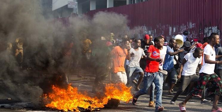 معترضان در هائیتی خواهان قطع ارتباط این کشور با آمریکا شدند