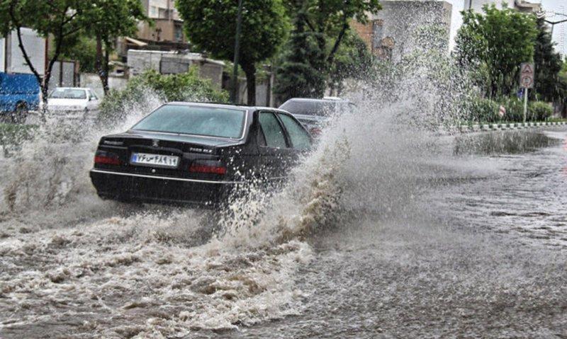 پیش بینی آب گرفتگی معابر و باد شدید در استان گلستان