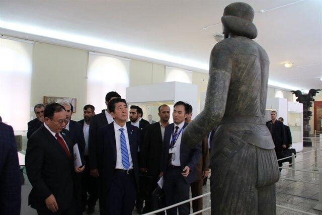 شینزو آبه به موزه ملی ایران رفت