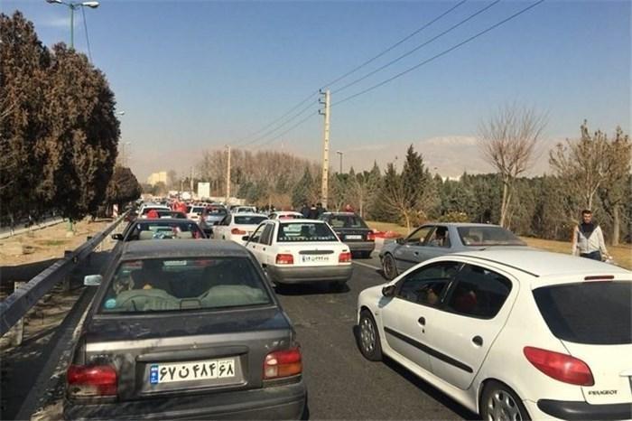 ترافیک نیمه سنگین در ورودی پایتخت، تردد روان در مناطق زلزله زده